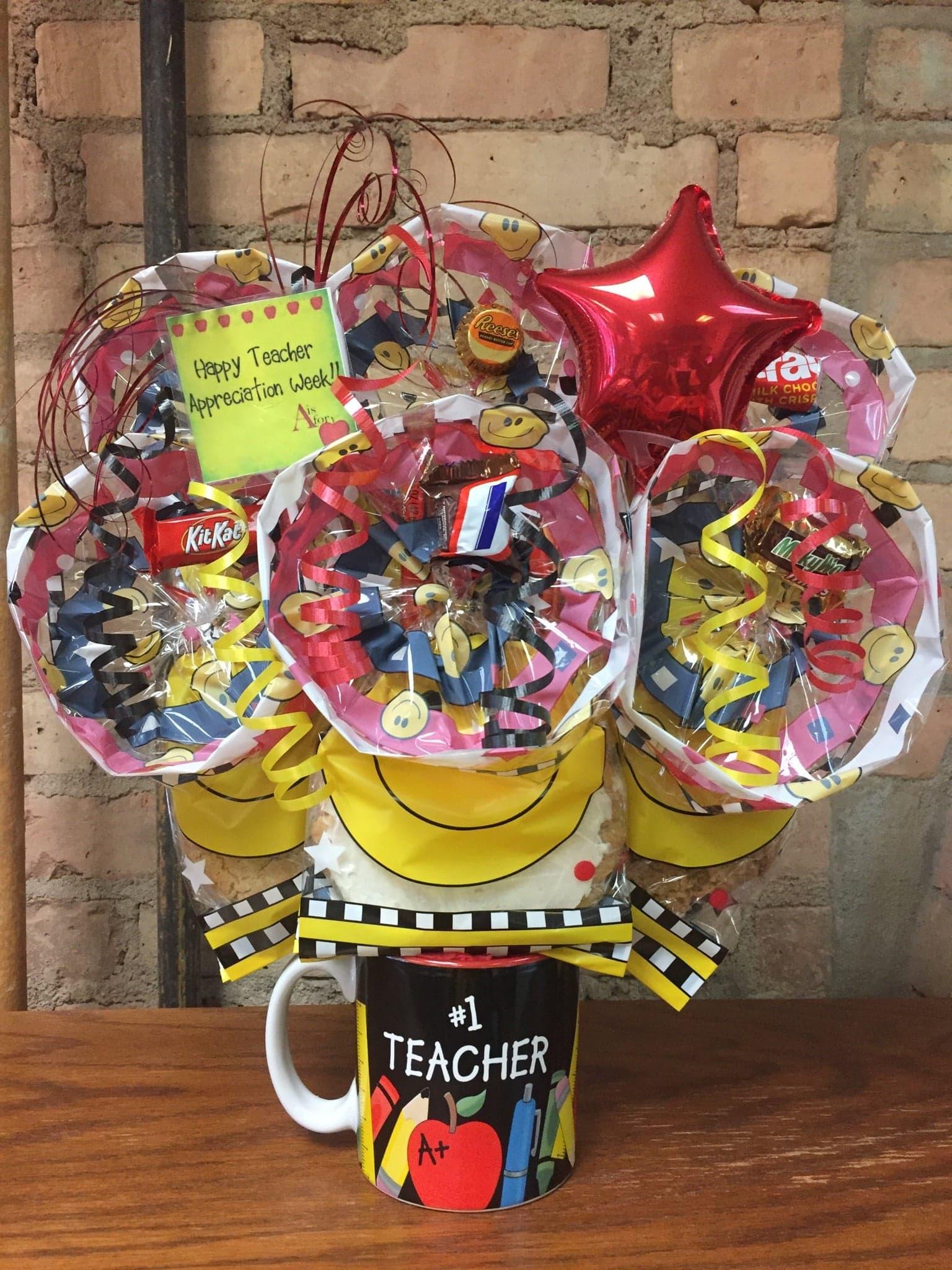 Teacher Appreciation Mug Cookie Bouquet
