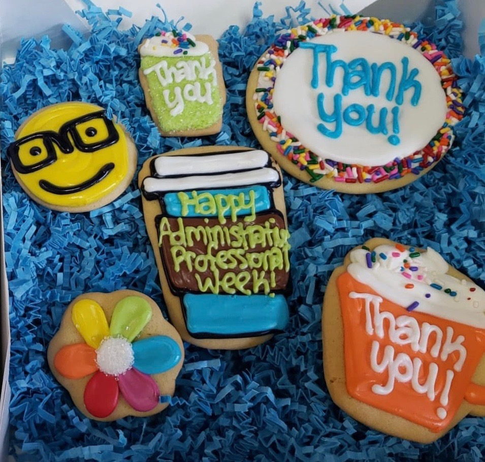 Administrative Professionals Cookies in Gift Box