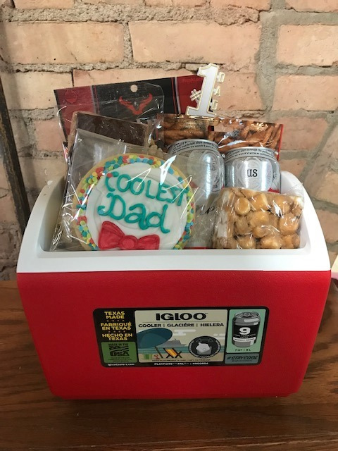 Father's Day Red Cooler Beer Basket