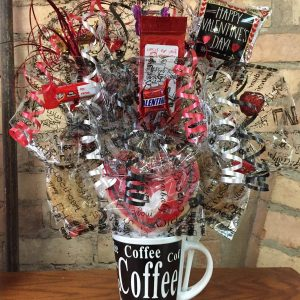 Valentine Coffee Mug Bouquet with Signature Coffee