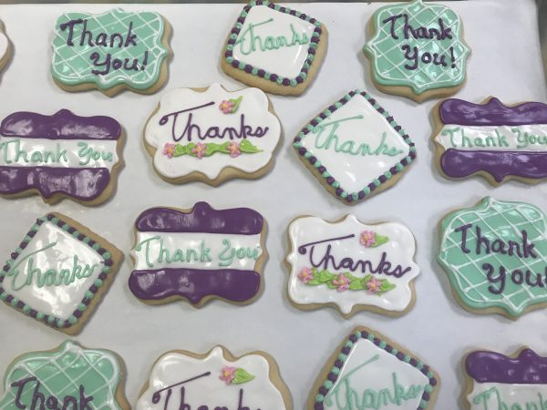 Thank You Decorated Cutout Cookies
