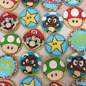 Assorted Mushroom, Star, & Face Decorated Cookies