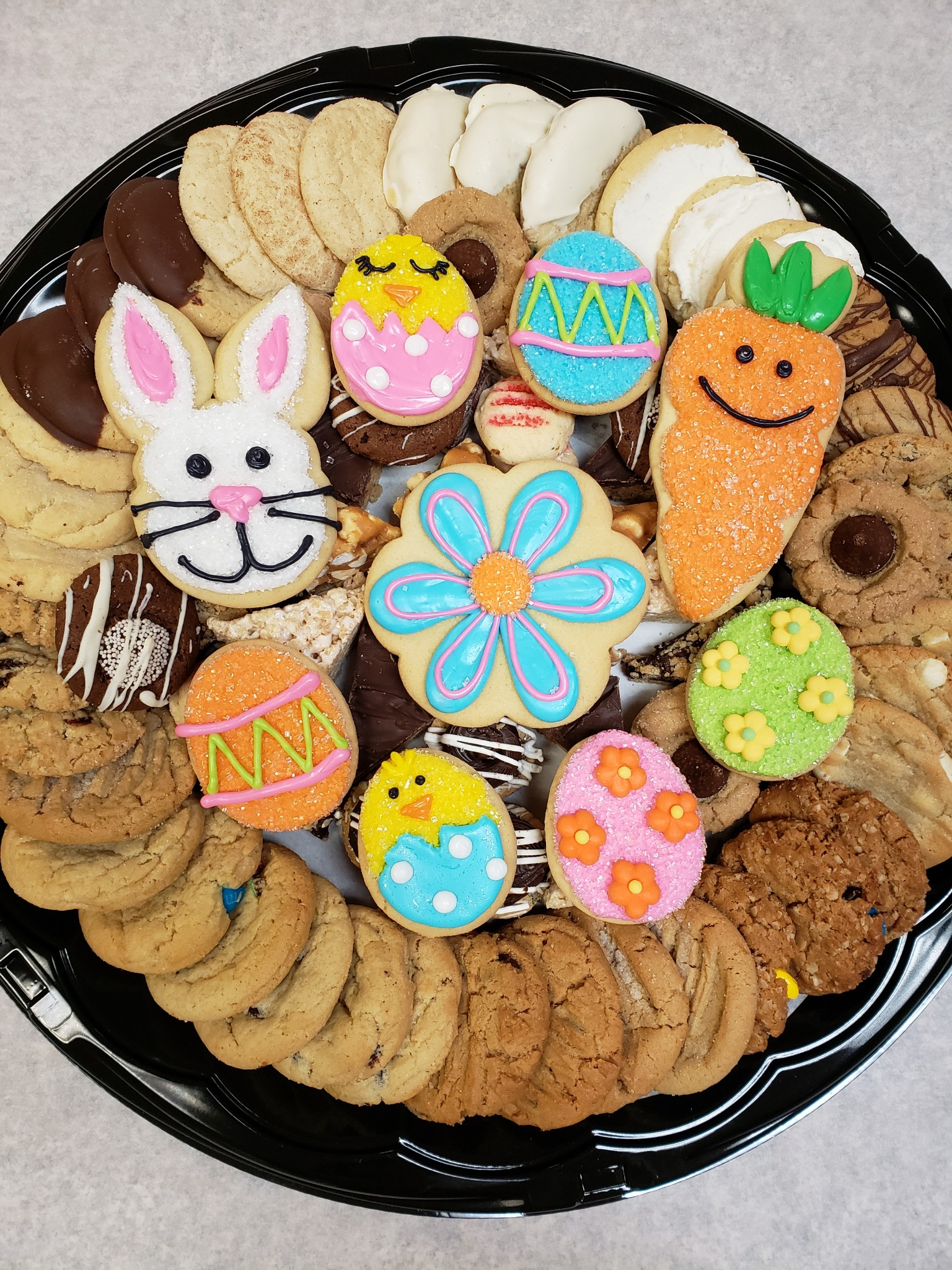 Easter Sweets Tray with Mini Cutouts