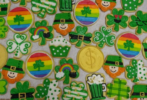 Assorted St. Patrick's Day Decorated Cookies