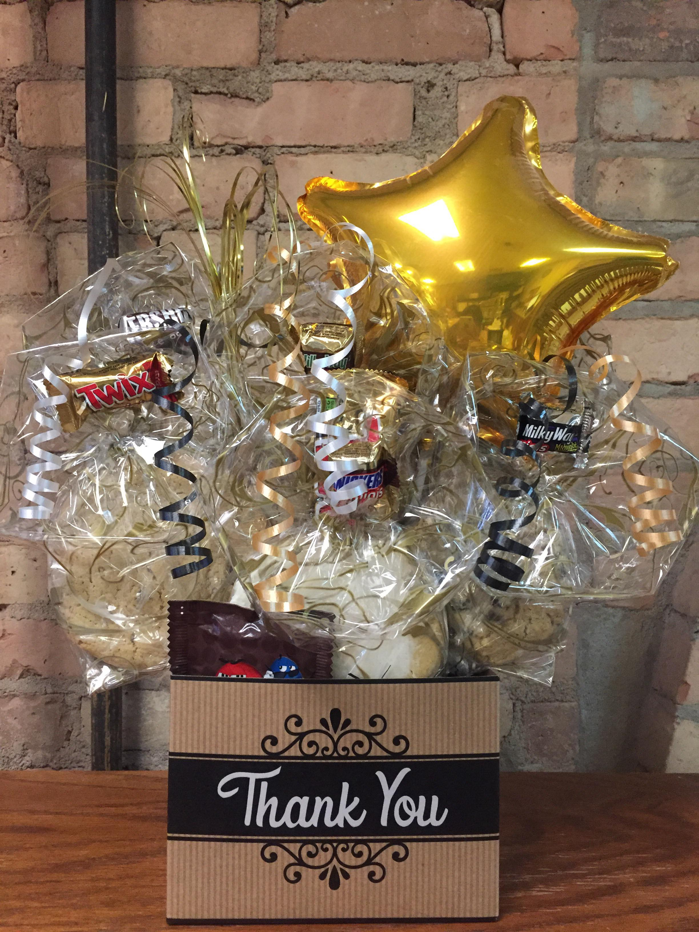 Black Thank You Box Cookie Bouquet