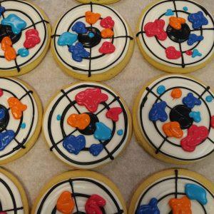 Paint Ball Target Cookies