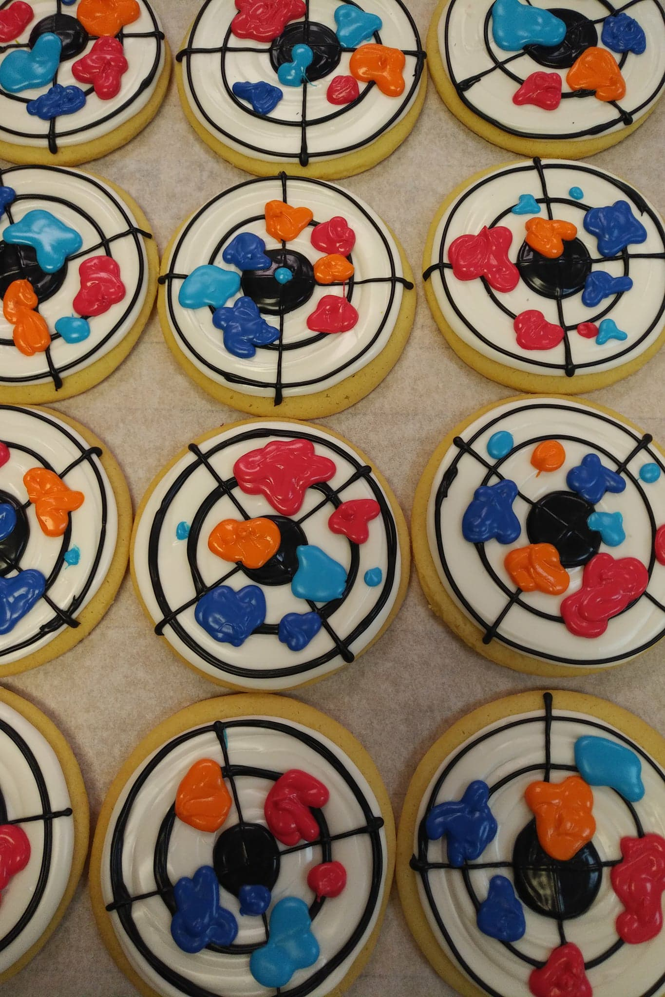 Paint Ball Target Cookies