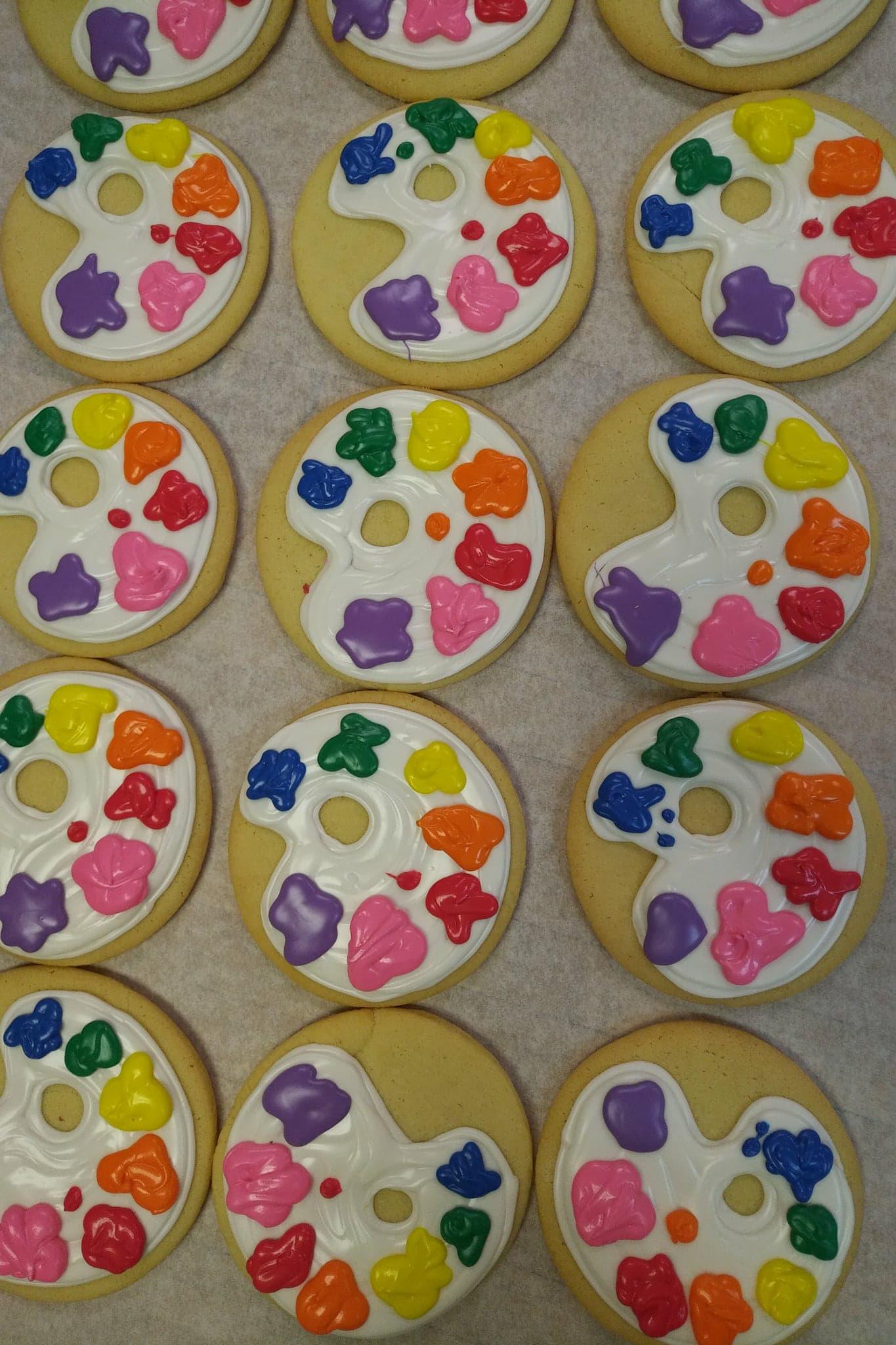 Paint Palette Cookies