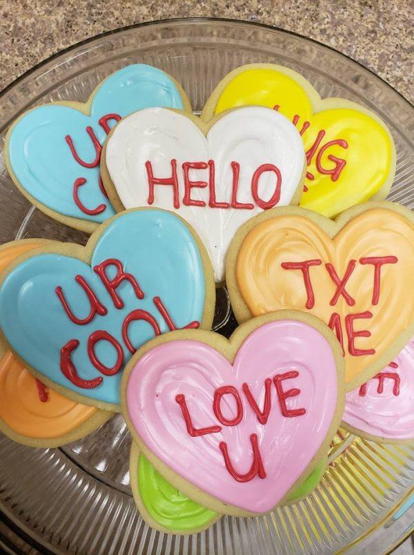 Conversation Heart Cutout Cookies